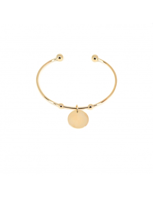 Breloque gold bangle bracelet - Pomme Cannelle