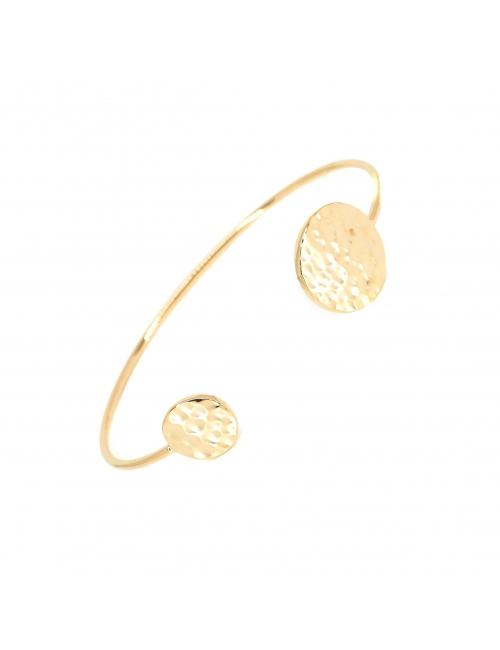 Hammered pastilles gold bangle bracelet - Pomme Cannelle