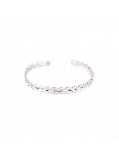 Ears silver bangle bracelet - Pomme Cannelle
