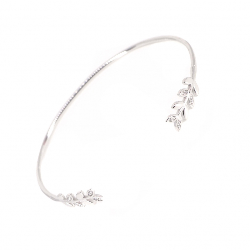 Bracelet jonc épis en argent - Les créations de Lili