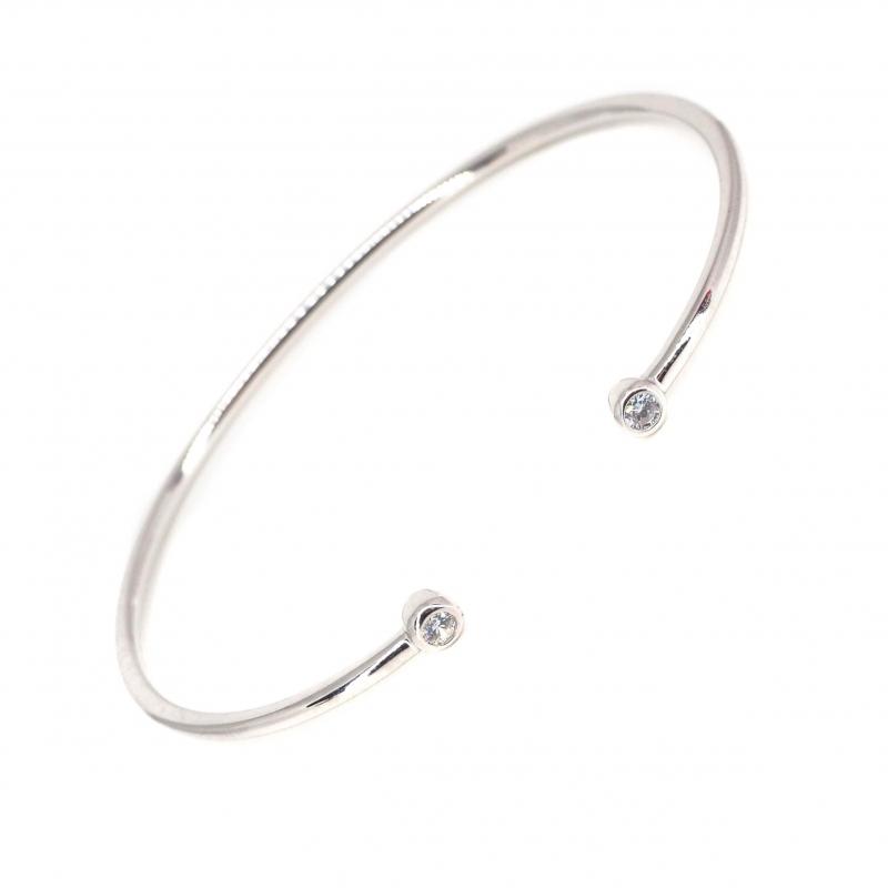 Brillant silver bangle...