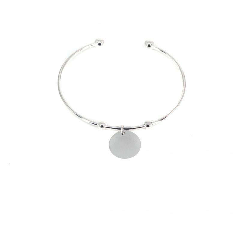 Breloque silver bangle...