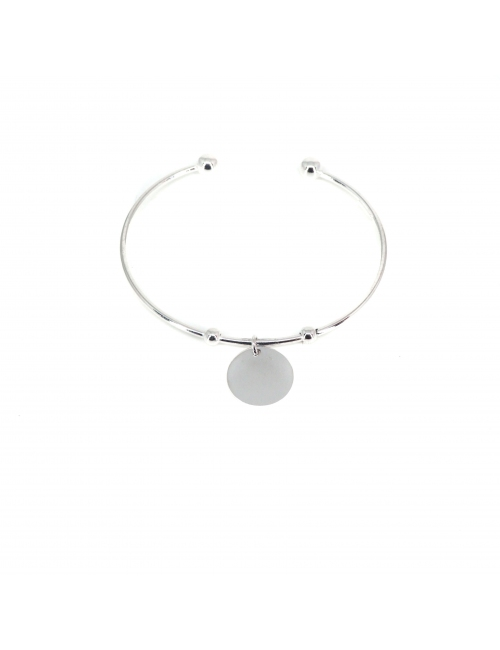 Breloque silver bangle bracelet - Pomme Cannelle