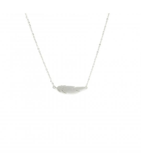 Collier plume en acier - Zag Bijoux - Zag Bijoux