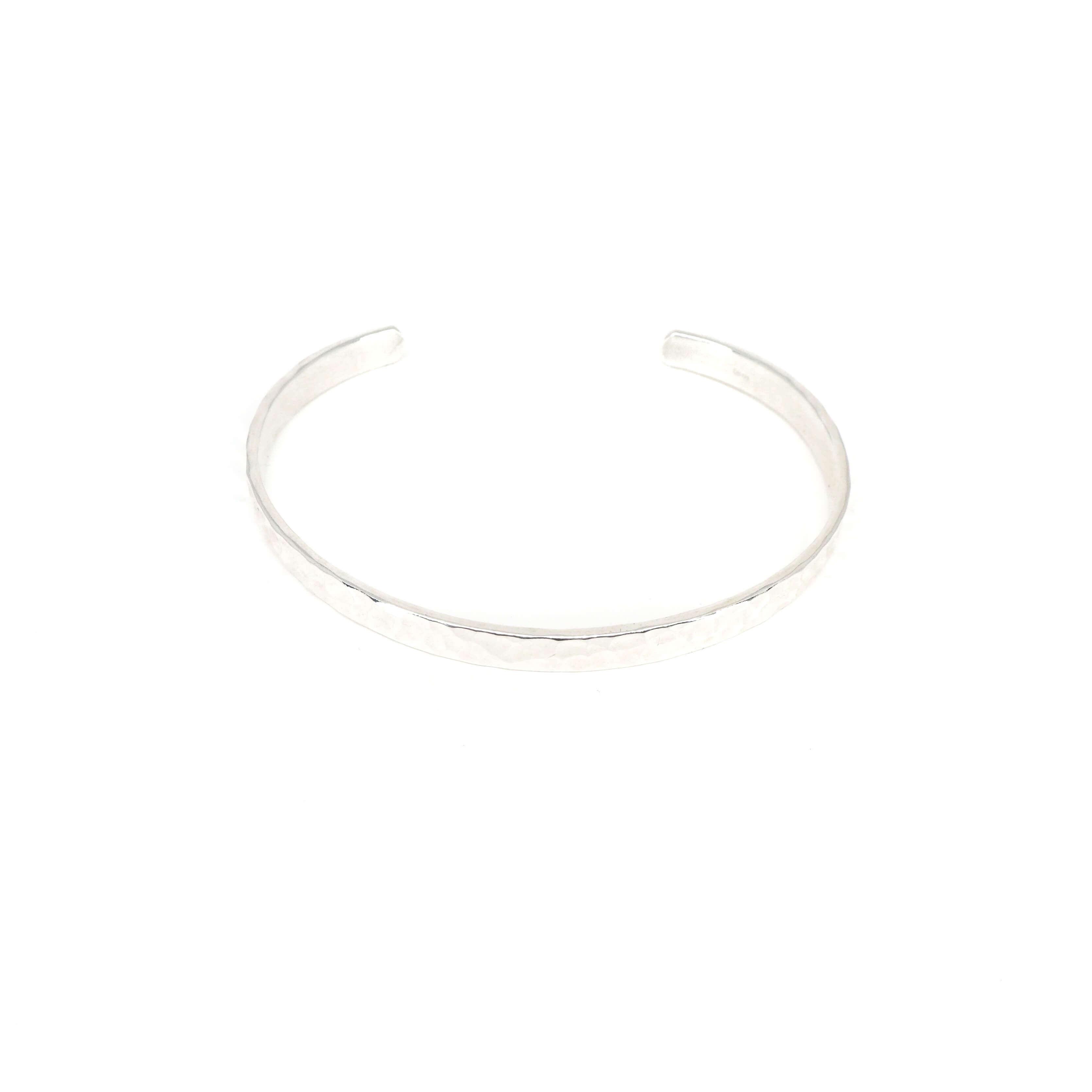 Bracelet jonc martelé en argent - Pomme Cannelle