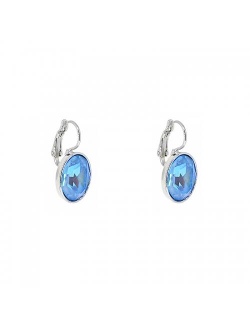 Boucles d'oreilles ovales aquamarine - Bohm Paris