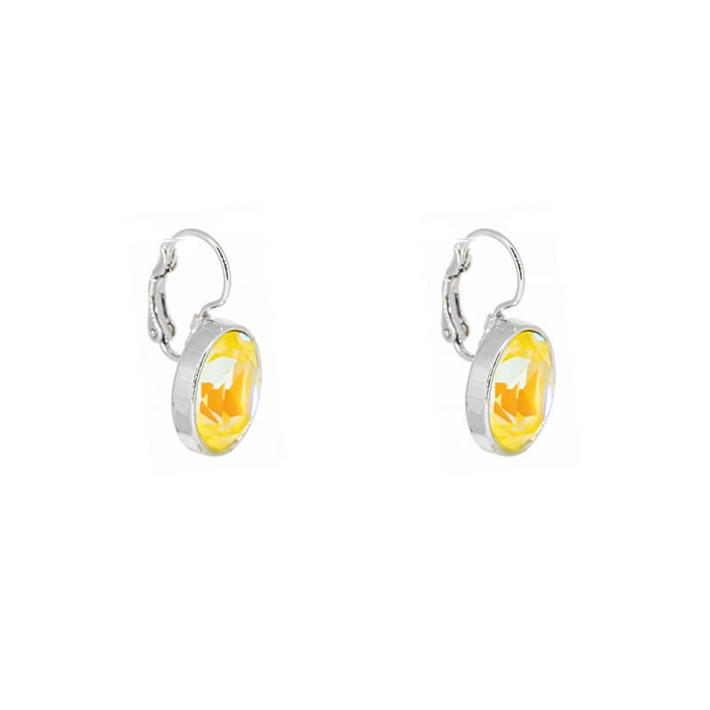 Boucles d'oreilles ovales sunshine delight - Bohm Paris