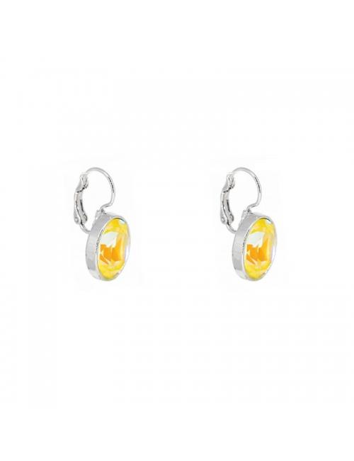 Oval sunshine delight silver earrings - Bohm Paris