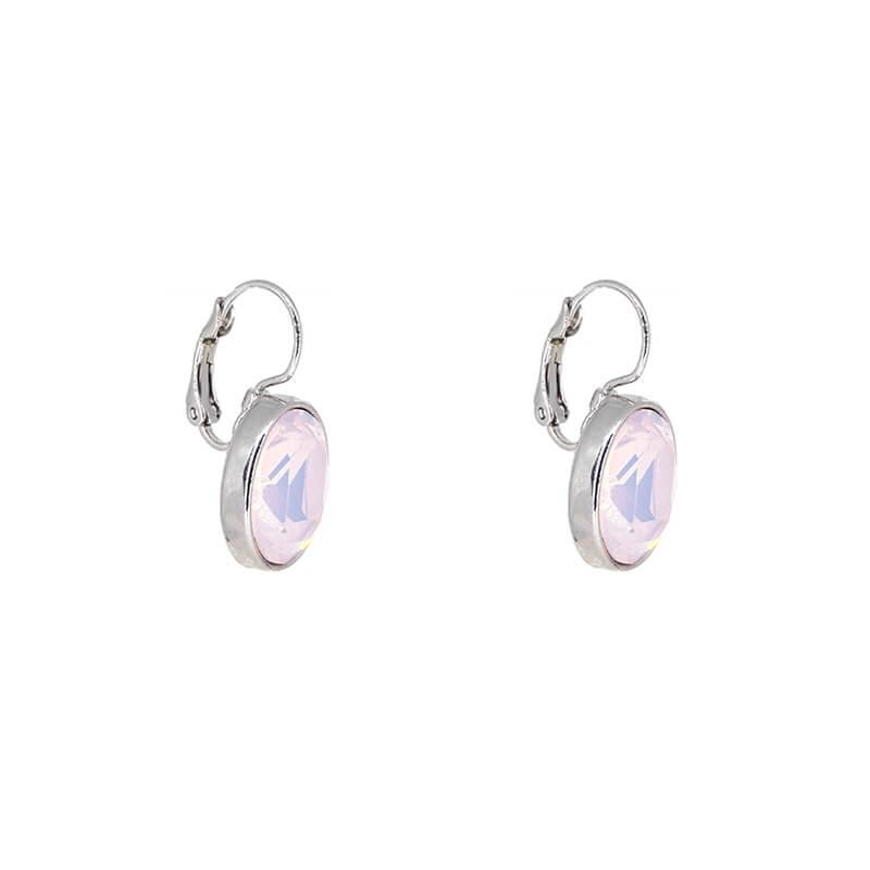 Boucles d'oreilles ovales rose opal - Bohm Paris