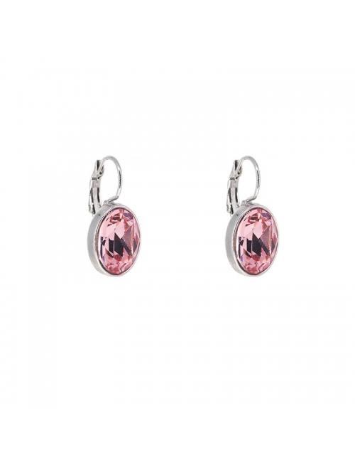 Boucles d'oreilles ovales light rose - Bohm Paris