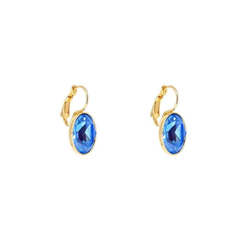 Oval ocean delight gold earrings - Bohm Paris