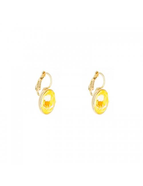 Boucles d'oreilles ovales sunshine delight acier or - Bohm