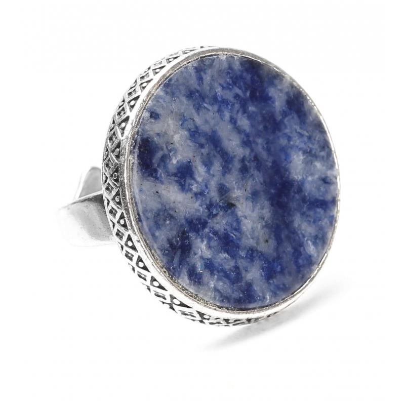 Bague ronde sodalite Cyclade - Nature Bijoux