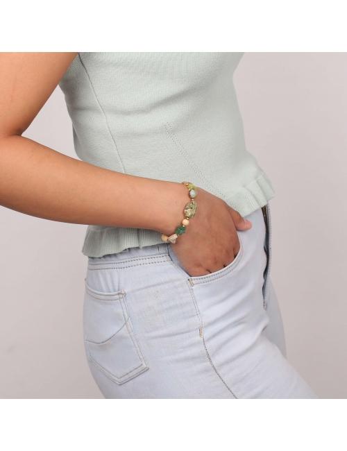 Danube gold stretch bracelet - Nature Bijoux