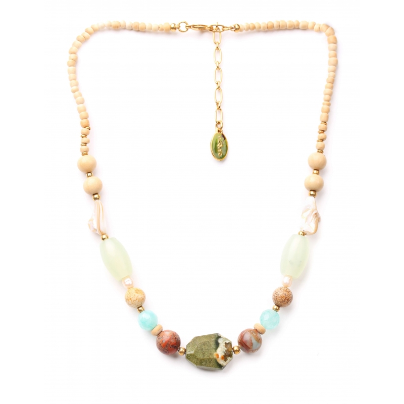 Danube gold necklace -...