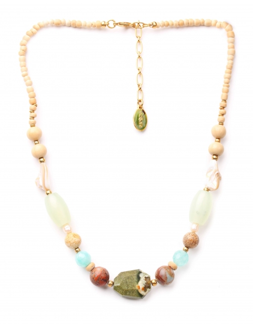 Danube gold necklace - Nature Bijoux