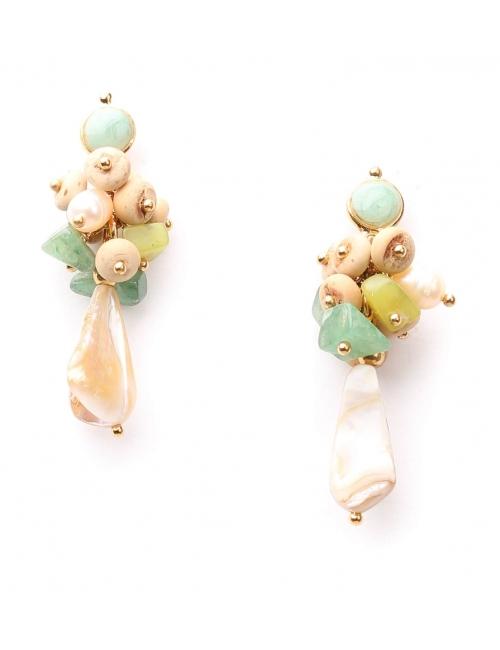 Boucles d'oreilles grappe Danube - Nature Bijoux