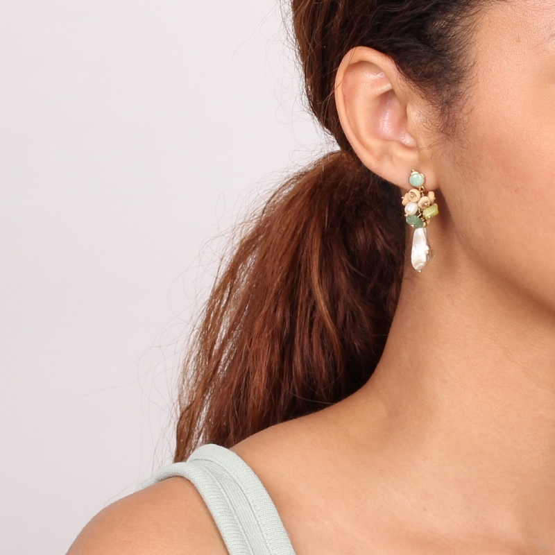 Danube gold earrings -...
