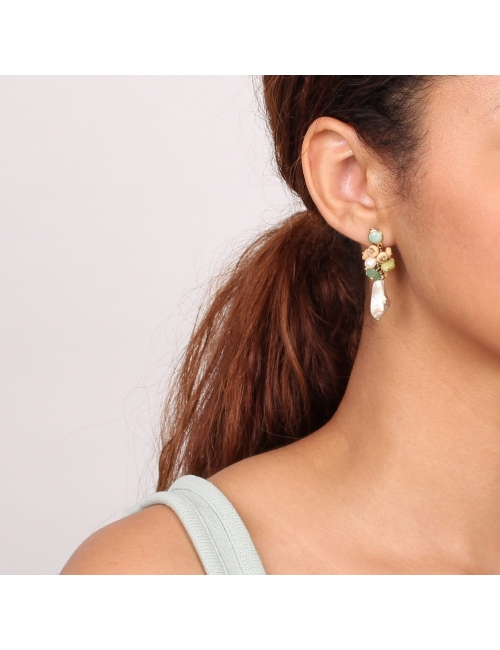 Danube gold earrings - Nature Bijoux