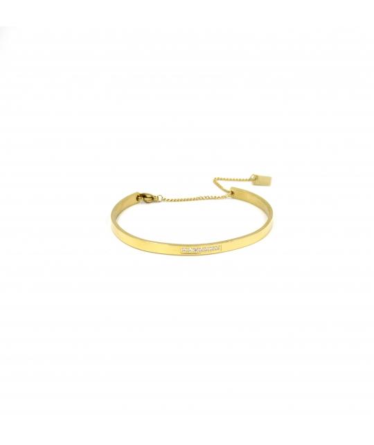 Bracelet jonc strass en acier jaune - Zag Bijoux - Zag Bijoux