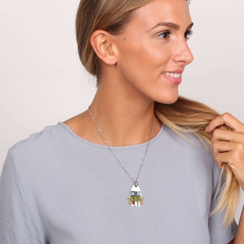 """"""" Y """" Abby silver necklace..."""