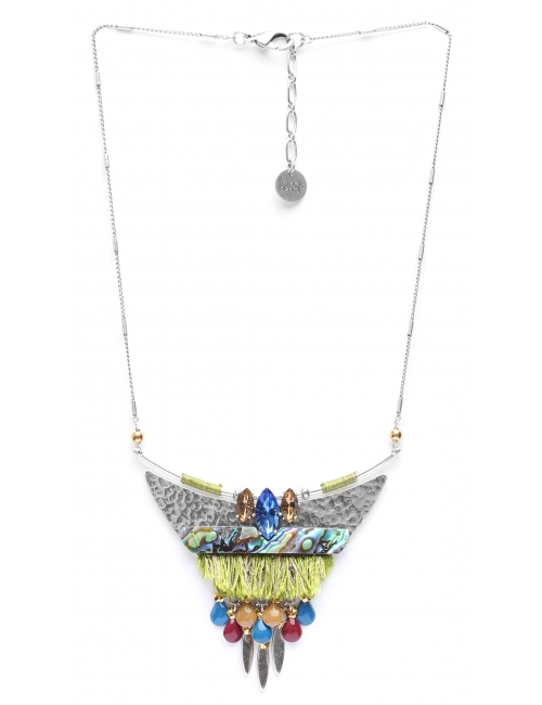 Abby breastplate silver necklace - Franck Herval