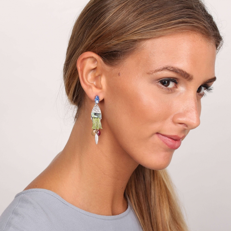 Abby silver earrings -...