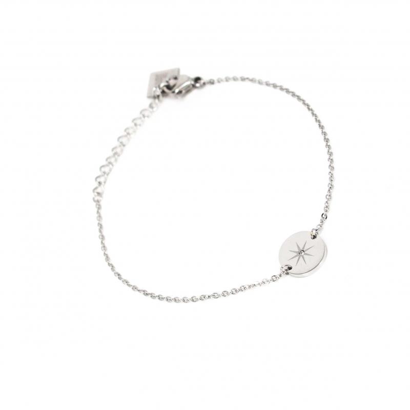 Bracelet pastille étoilée en acier - Zag Bijoux