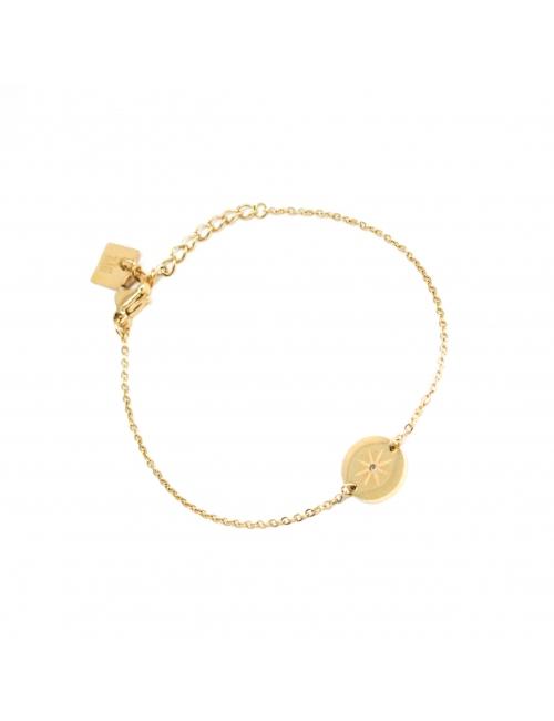 Star-studded bracelet in yellow steel - Zag Bijoux