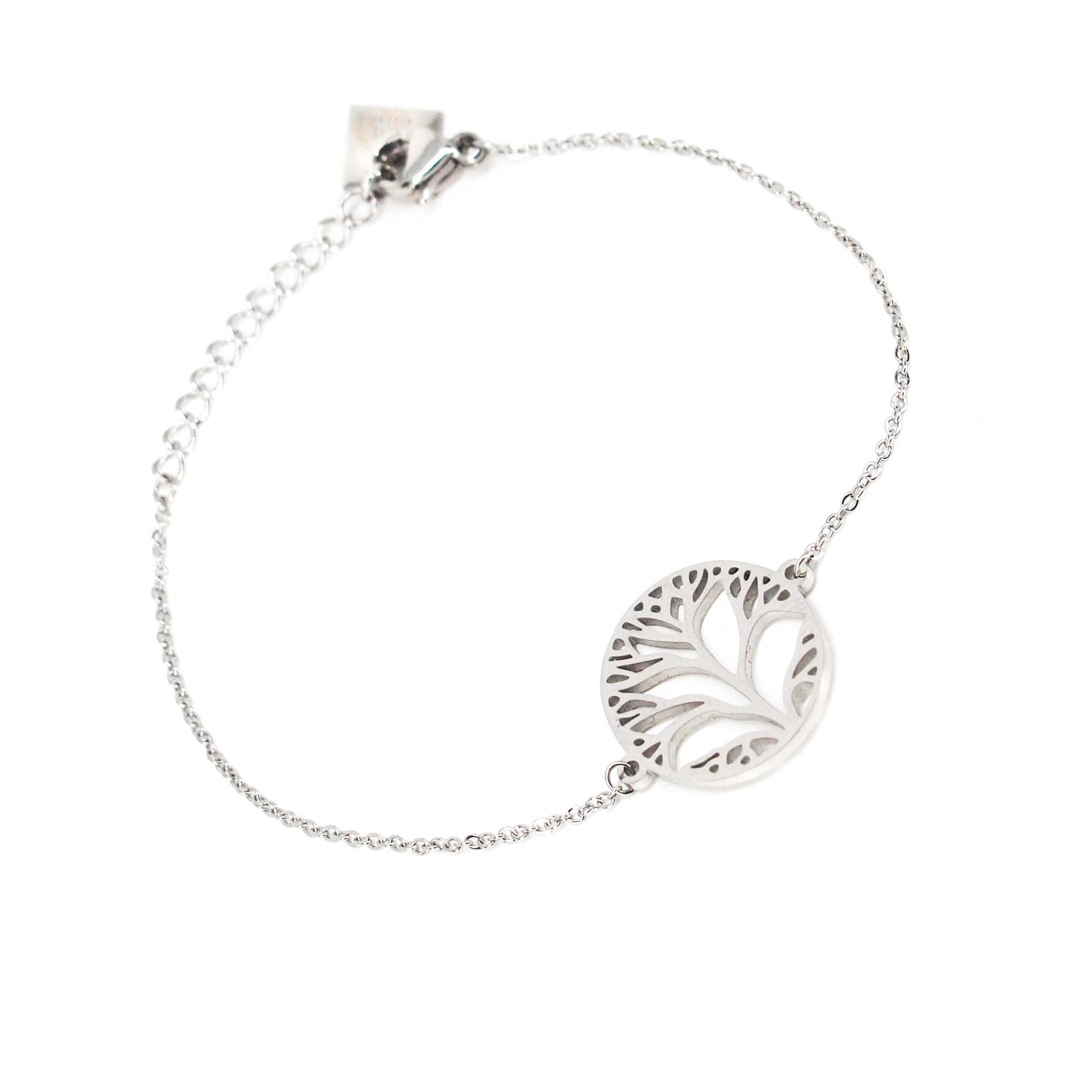 Bracelet arbre de vie en acier - Zag Bijoux