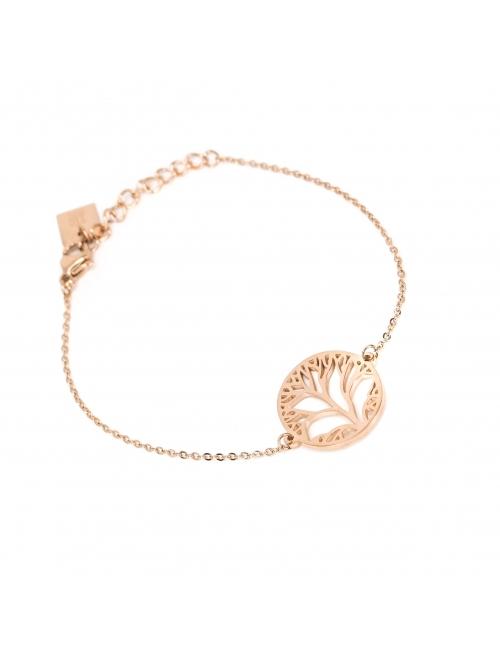 Tree of life rose gold bracelet - Zag Bijoux