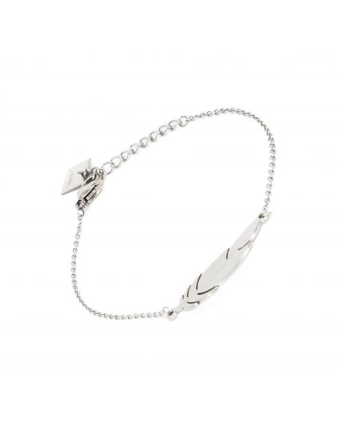 Bracelet plume en acier - Zag Bijoux