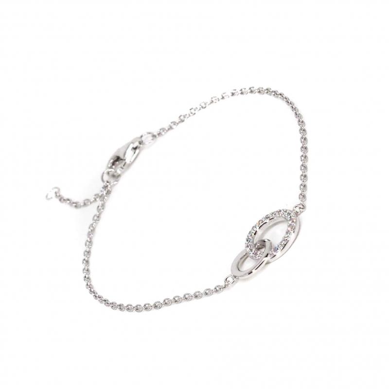 Bracelet anneaux entrelacés en argent - Les Créations de Lili