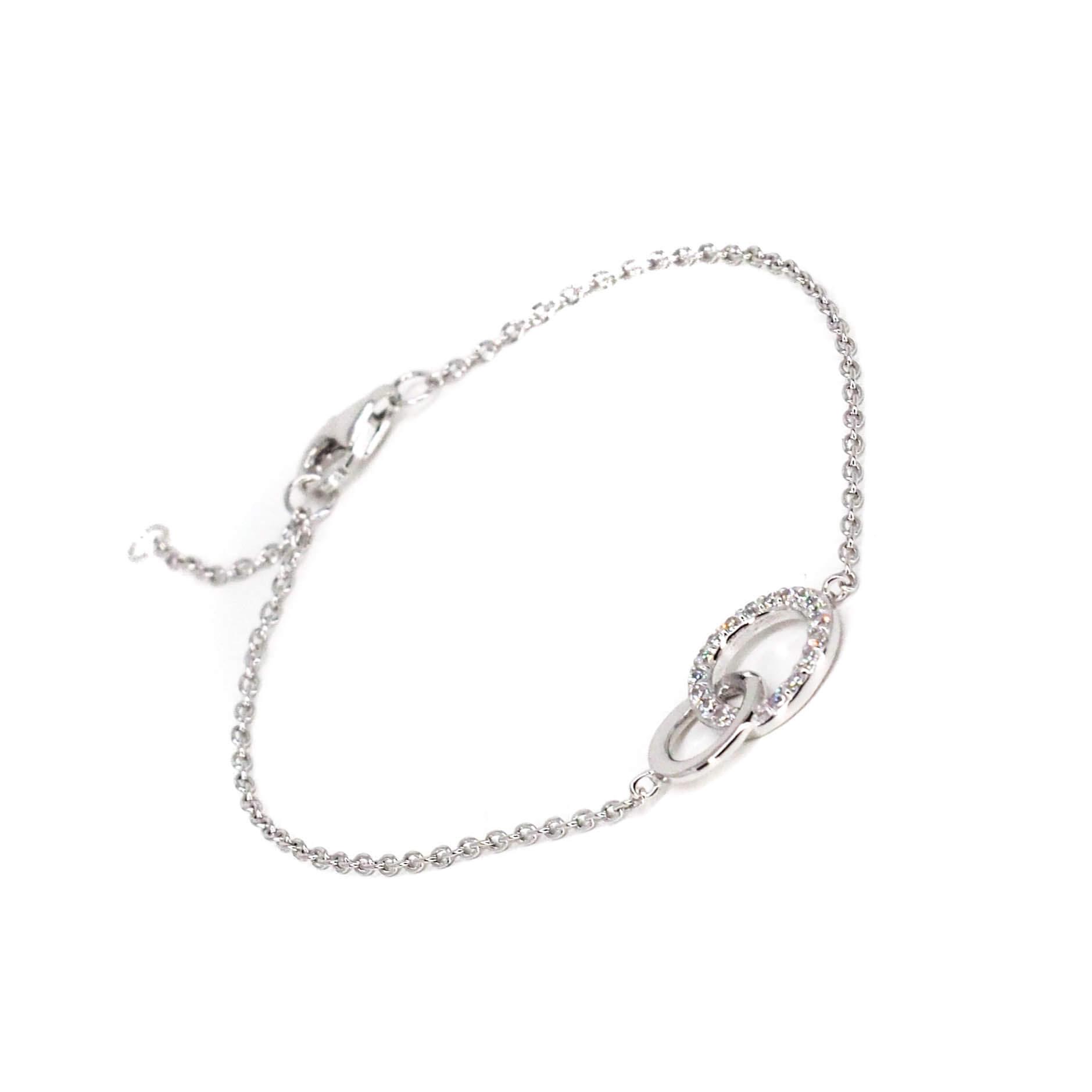 Bracelet anneaux entrelacés en argent - Pomme Cannelle
