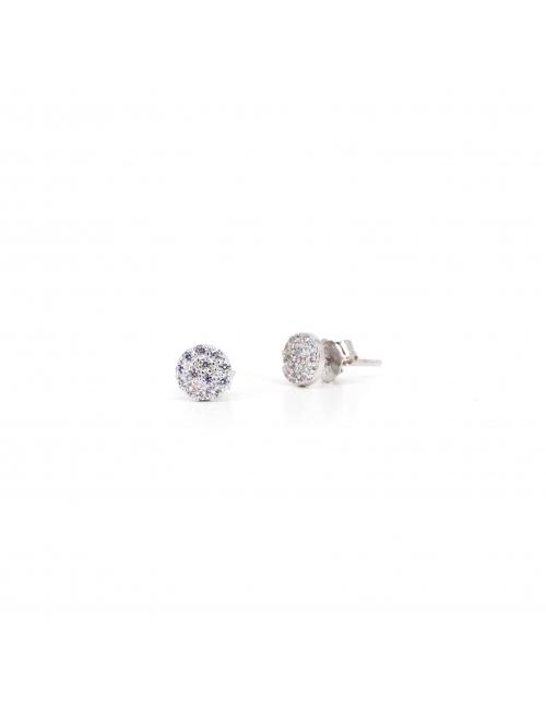Shiny white silver earrings - Pomme Cannelle