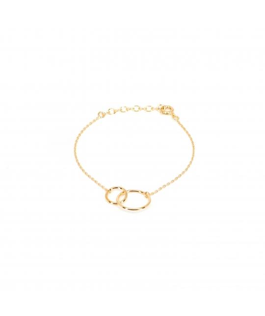 Bracelet double cercle en plaqué or - Pomme Cannelle - Pomme Cannelle
