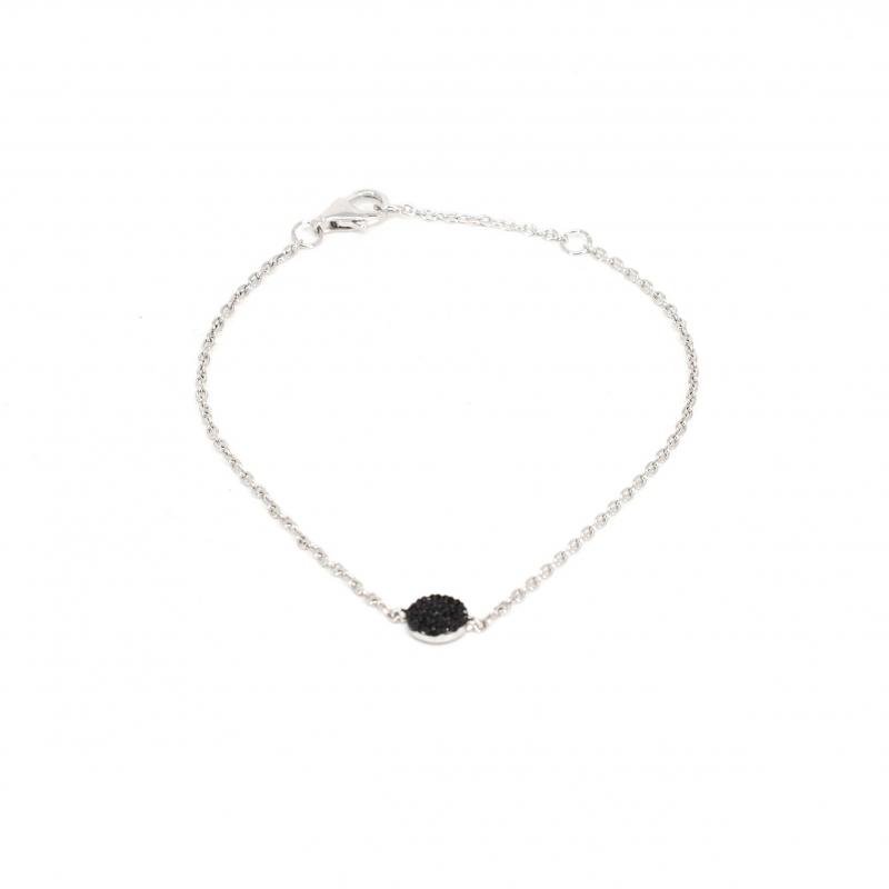 Shiny black silver bracelet...