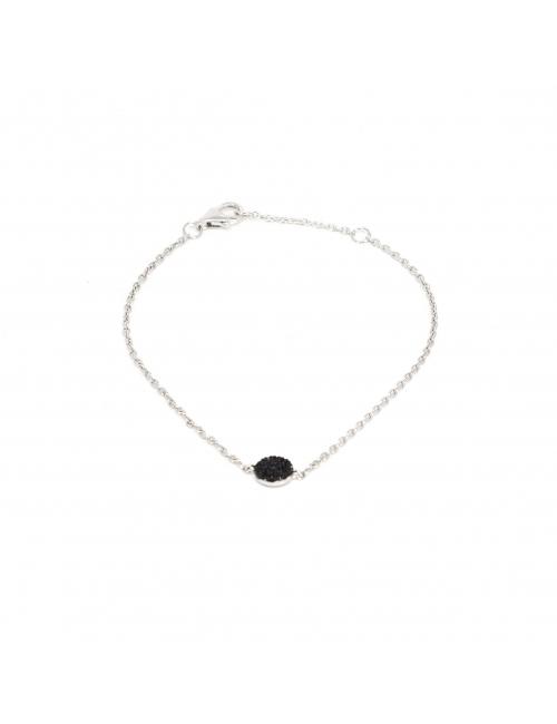 Bracelet shiny noir en...