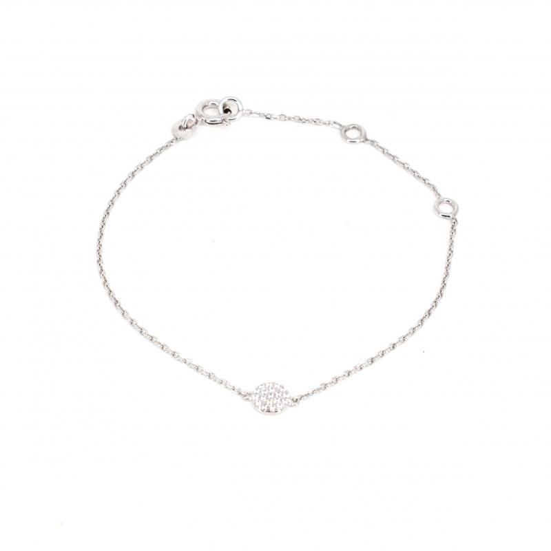 Shiny white silver bracelet - Pomme Cannelle