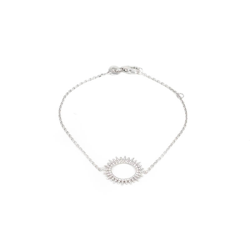 Bracelet soleil en argent - Les créations de Lili