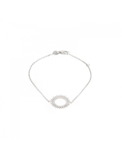Bracelet soleil en argent -...