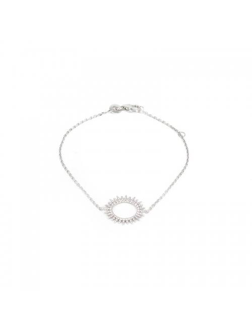 Sun silver bracelet - Pomme Cannelle