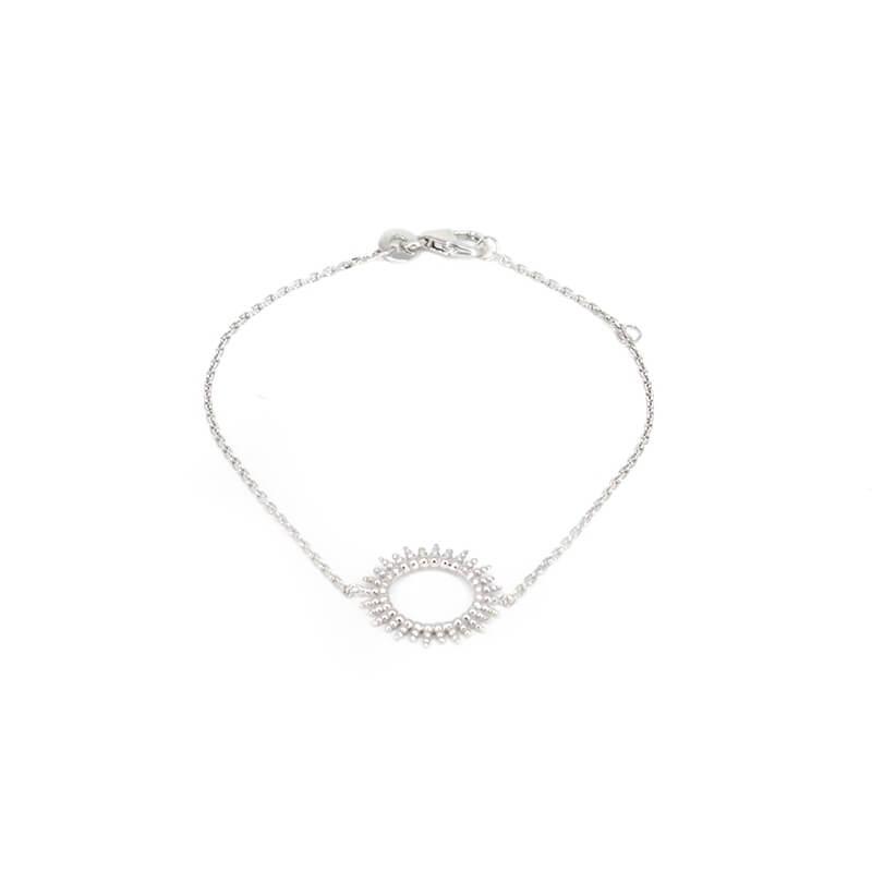 Bracelet soleil en argent - Pomme Cannelle
