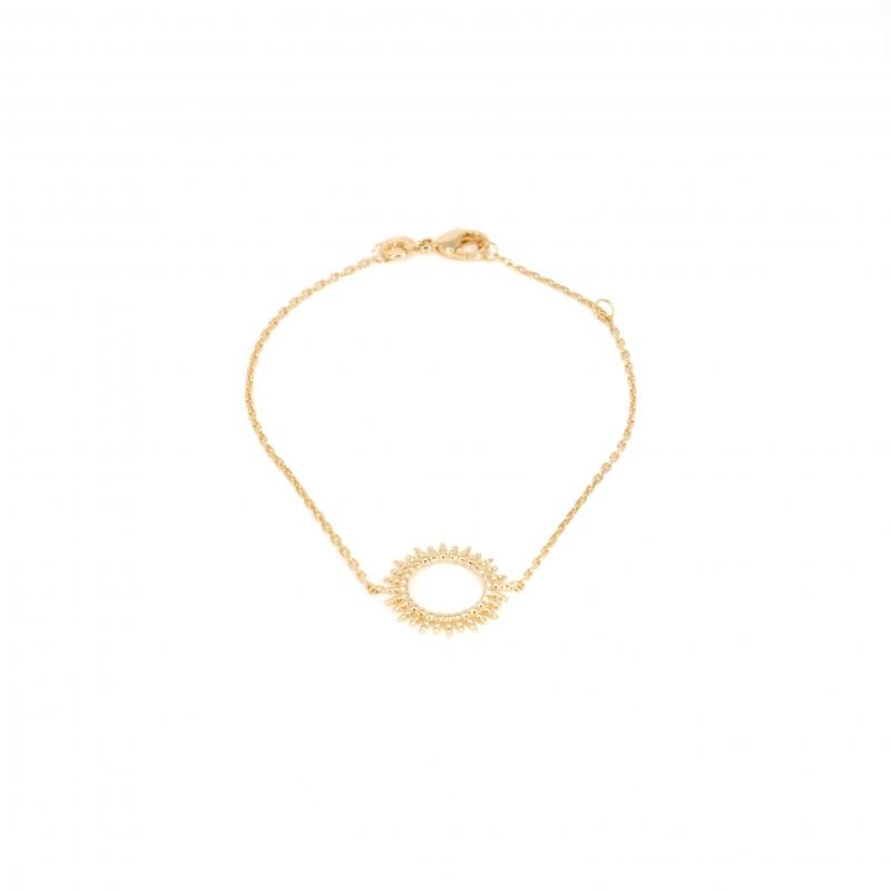 Bracelet soleil en plaqué or - Les créations de Lili