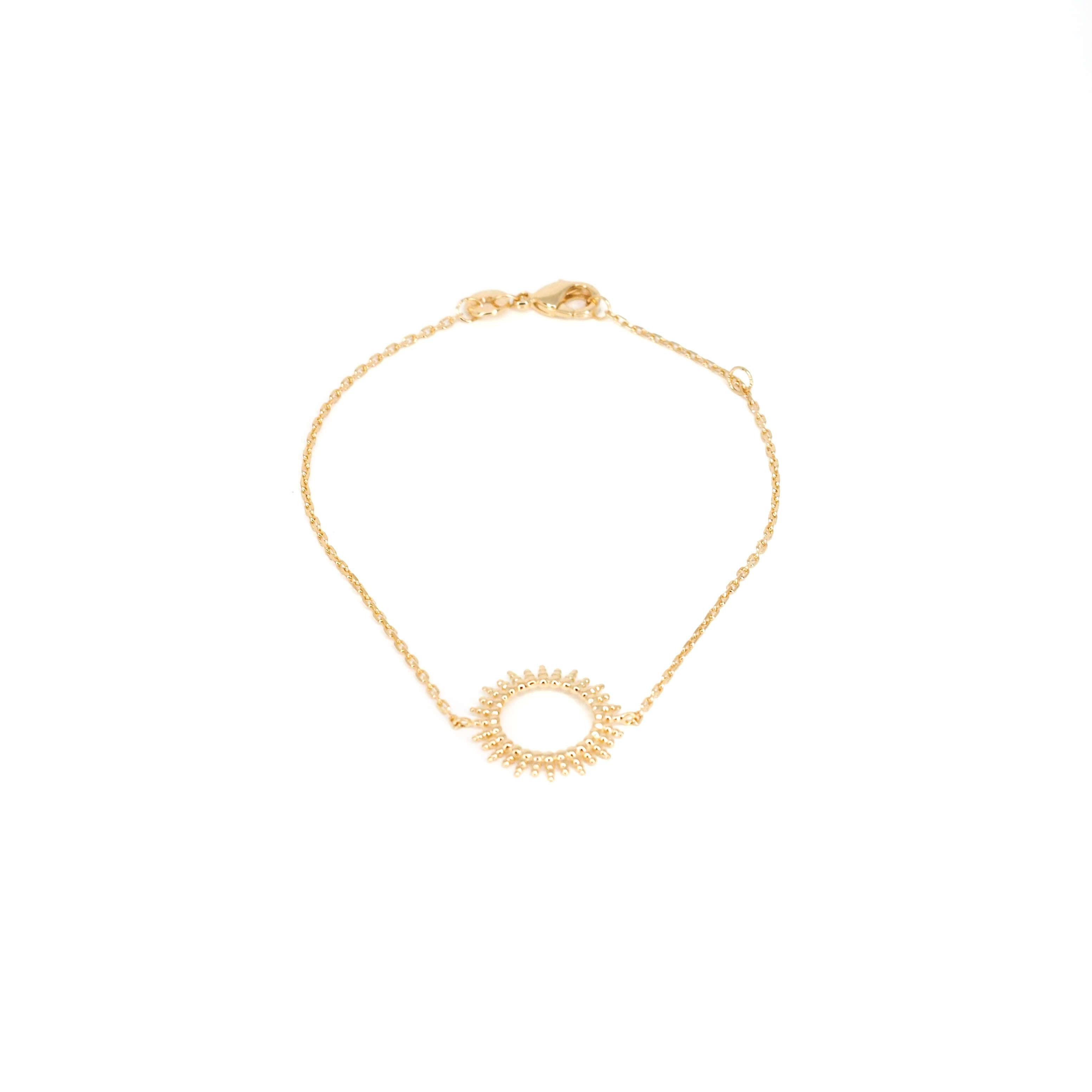 Bracelet soleil en plaqué or - Pomme Cannelle