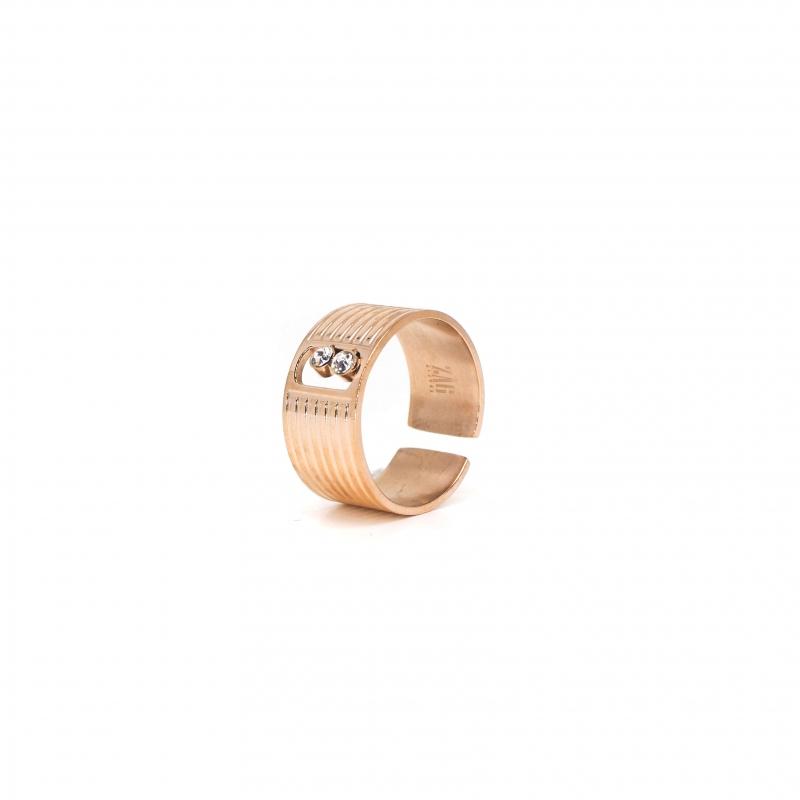 Strie rose gold ring - Zag Bijoux