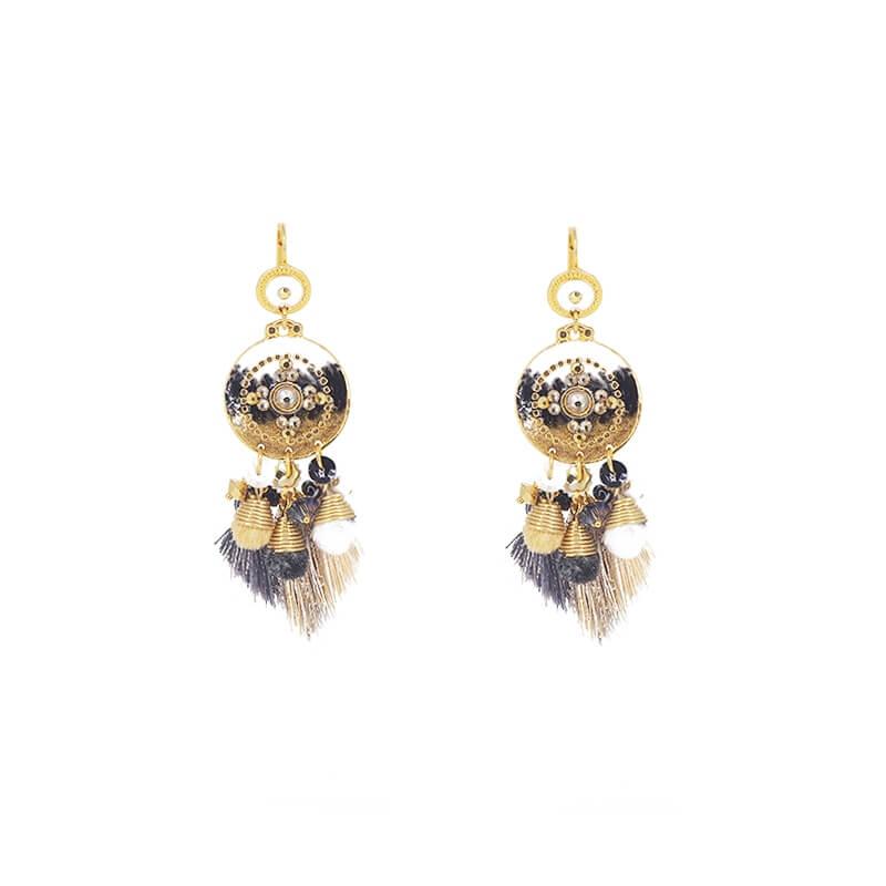 Boucles d'oreilles Stella pompon or - Gas Bijoux