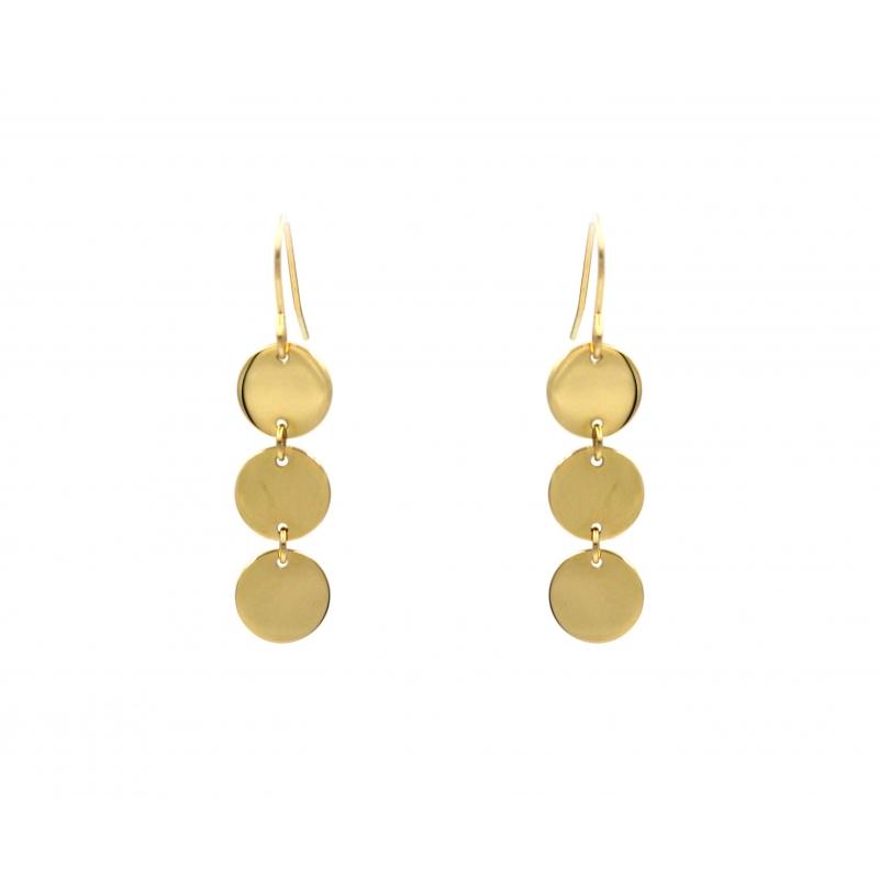 Pastilles gold earrings -...