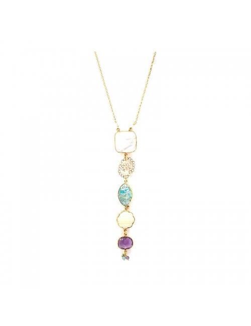 Poeme gold long necklace - Gas Bijoux