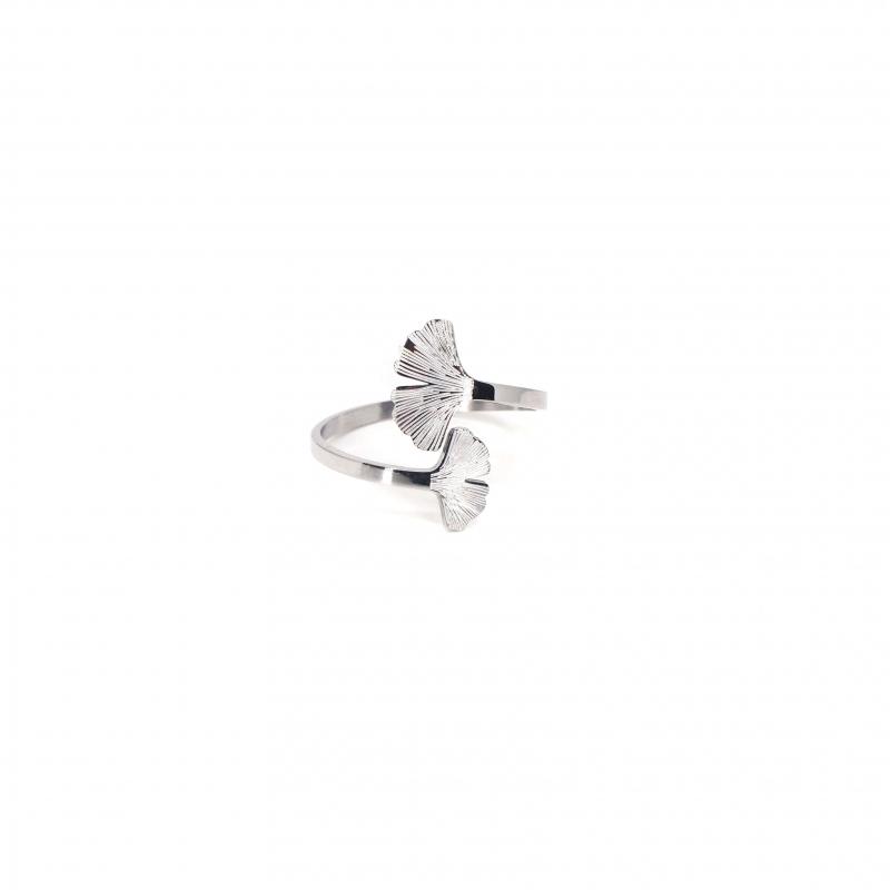 Ginkgo silver ring - Zag...
